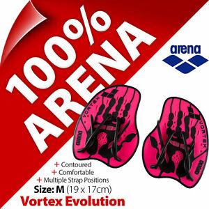 Arena Vortex Evolution Hand Paddles Swimming Stroke Strength Training (Size: M)