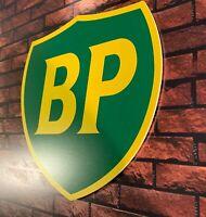 Enseigne Plaque Décorative Garage BP logo année 1989 à 2000 _52 cm x 50 cm