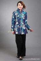 Chinese-style costume women's silk embroidery jacket coat size: M to 3XL