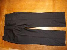 Straight Leg Wool 28L Trousers for Women