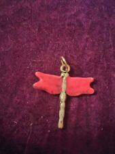 dragonfly pendant Large pink