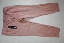 R NEXT LUXURY PINK TROUSERS JEANS CROP UK SIZE 18 CASUAL FRONT STRAPS