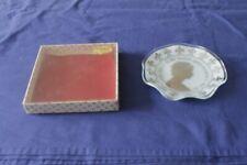 More details for chance glass silver jubilee trinket dish in original box - queen elizabeth ii