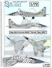Syhart Decals 1/72 MIKOYAN MiG-29 FULCRUM Slovak Tiger Tigermeet 2002