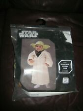 STAR WARS RUBIES YODA 3T-4T COSTUME HEADPIECE HOODED ROBE OUTFIT