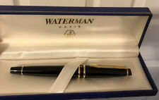 Waterman Expert Rollerball Pen Black/Gold NEW! Free Shipping!