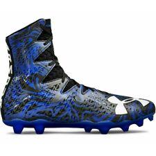 Mens Under Armour Highlight LUX MC Lacrosse Cleats Black/Blue Sz 10.5 M