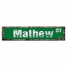 SMNS0241 MATHEW Street Chic Sign Home Man Cave Wall Decor Birthday Gift