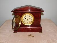 """VINTAGE 11 1/2"""" HIGH 12 3/4"""" WIDE SETH THOMAS WIND UP MANTEL CLOCK *NOT WORKING*"""