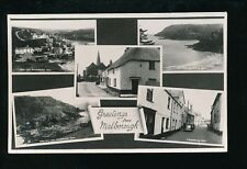Devon Greetings from MALBOROUGH M/view RP PPC Used 1954
