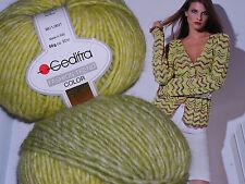 600g Fashion Trend Color GEDIFRA Schachenmayr WOLLE Gelb Ecru Grün MERINO NATUR