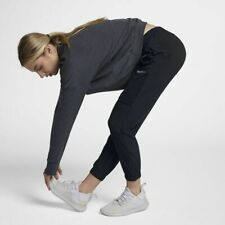 WOMENS NIKE SHIELD SWIFT RUNNING PANTS SIZE S (943522 010) BLACK