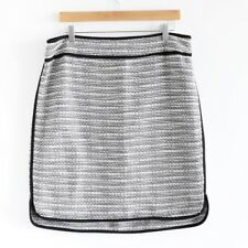 Lord & Taylor tweed black white career straight skirt Size US 14 work office euc