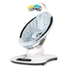 4moms MamaRoo 4.0 (Silver Plush) Natural Motion Baby Bouncing Chair