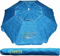 AMMSUN 6.5 ft Outdoor Patio Beach Umbrella Sun Shelter with Tilt Air Vent