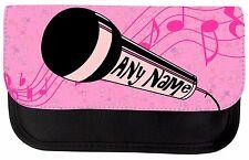 Impresión De Micrófono Karoke Personalizado Escuela Estuche de Maquillaje Bolsa Regalo