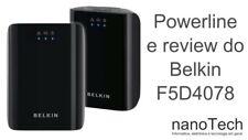 2 Prises BELKIN NEUF F5D4078 Adaptateur CPL Ethernet + 2 Câbles 2M RJ45 Classe 7