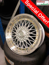 "17"" Alloy Wheels Tyres 205/40R17 e21 e30 Golf mk1 mk2 mk3 Seat Skoda 4X100 rs"