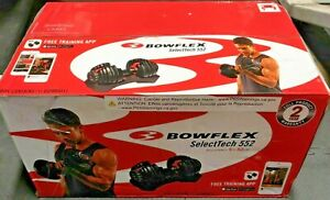 Single Bowflex SelectTech 552 Adjustable Dumbbell (1 Dumbbell only) -Ships now