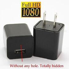 HD 1080P Hidden Spy Camera Real USB Wall AC Plug Charger Built-in 32GB Memory
