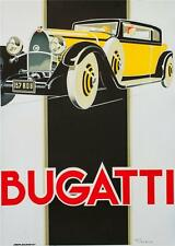Bugatti Vintage Racing Car Poster Fine Art Lithograph Rene Vincent Re Society