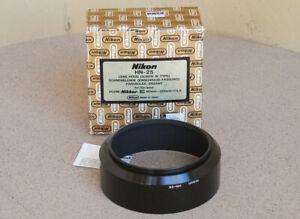 RARE Nikon HN-25 Metal Lens Hood in box for 80-200mm F2.8 AIS MF lens NIB NOS