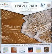 Travel Pack 12 designer sheets of 12x12 paper by cre8tiv