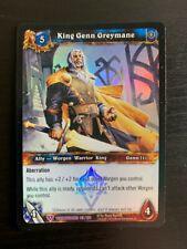 World of Warcraft WoW TCG Promo - Foil King Genn Greymane