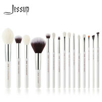 Jessup Pearl White/Silver Professional Makeup Brushes Set Beauty Make up Brush