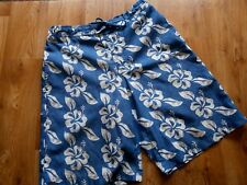 "Mens Mckenzie Swim / Board Shorts Blue Tropical Floral Print Size S 30""- 32""w"