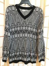Cato Girls Black White Lightweight Aztec Print Sweater Sz XL