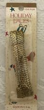 "Holiday Laces - A pair of 45"" Black & Sparkling Gold Shoe Laces ***NEW***"