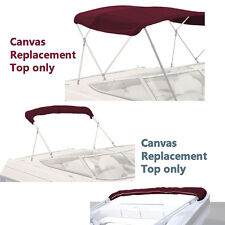 "BIMINI TOP BOAT COVER CANVAS FABRIC BURGUNDY W/BOOT FITS 4BOW 96""L 54""H 54""-60""W"