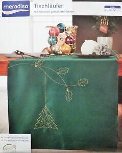 Weihnachtstischläufer Grün 45 x 145 Weihnachtsdeko Tischläufer Weihnachten Deko