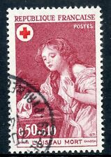 STAMP / TIMBRE FRANCE OBLITERE N° 1701 CROIX ROUGE L'OISEAU MORT