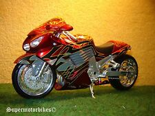 1:12 Kawasaki ZX 14 ( ZZR 1400 ) Rot Schwarz Custom 2009 / 00888