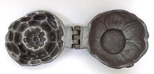 Antique Pewter Water Lily Ice Cream Mold