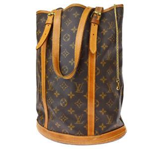 Auth LOUIS VUITTON Bucket GM Shoulder Tote Bag Monogram Leather M42236 36MI369
