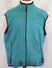 VTG 90s NIKE ACG Womens XL Teal/Green Full Zip POLARTEC Thermal Fleece Vest USA