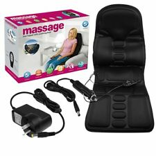 Heated Back Massage Chair Cushion Car Seat Pad Relieve Lumbar Neck Pain Massager