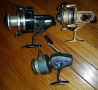 Lot of 3 antique Daiwa fish Spinning Reel 403a b-140 rl & unmarked made in Korea