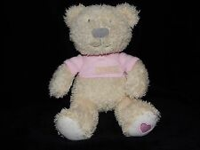 SNUGGLE CHUMS MY FIRST SNUGGLES TEDDY BEAR SOFT TOY CREAM PINK COMFORTER DOUDOU