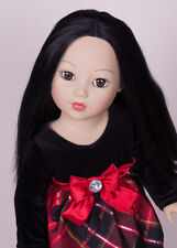 "Madame Alexander Asian doll 18"" black hair brown eyes, rear, retired"