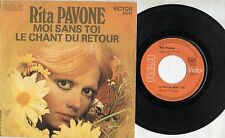 RITA PAVONE canta in FRANCESE disco 45 giri  MADE in FRANCE Moi sans toi