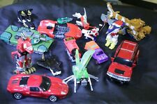 MISC LOT TRANSFORMER KNOCK OFFS, GO BOTS, POWER RANGERS & UNKNOWN  TOY LOT
