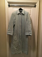 Old Vtg LEASRI Jean Demin Long Jacket Coat Women's Size Medium