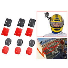 6Pcs Helmet Flat Curved Adhesive Mounts Accessorie For Gopro Hero 1 2 3 4 Sjcam