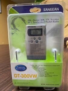 Sangean DT-300VW FM/AM/TV/WEATHER 4 BAND RECEIVER NIB