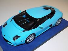 1/18 Looksmart MR Lamborghini Zagato 5-95 in Baby Blue Silver wheels