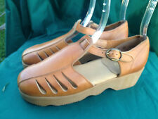 Vintage Sebago Sandals Leather Buckle 6M Mary Janes Women Hippie Girl Chic Shoes
